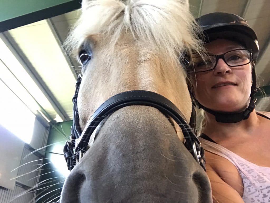 Selfie etter ridetimen