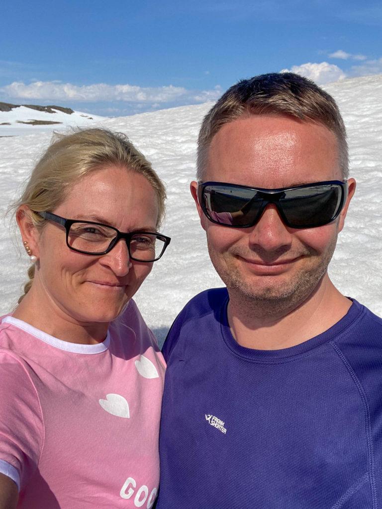 Selfie på Hardangervidda