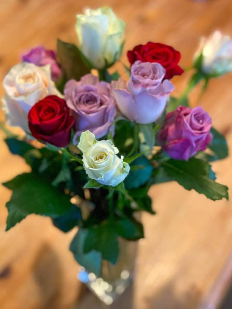 Blondebryllup - roser