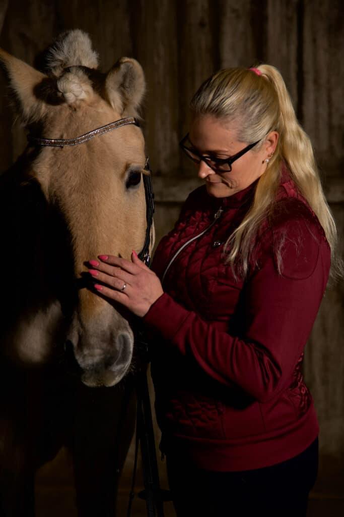 Fotoshoot med hest Tonje og Kvikk